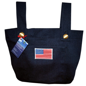 Patriotic Denim Walker Bag